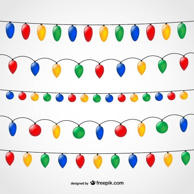 Christmas Lights Vector Free.String Of Christmas Lights Vector Free Download