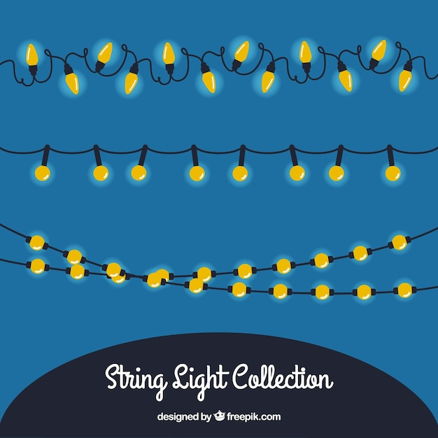 String Lights Vector : String light collection Vector Free Download