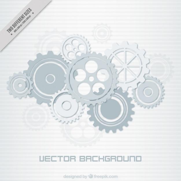 Striped background of gear mechanism in grey tones Premium Vector