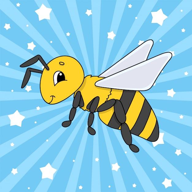 Striped bee. Premium Vector
