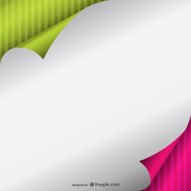 Striped Curled Page Free Vector