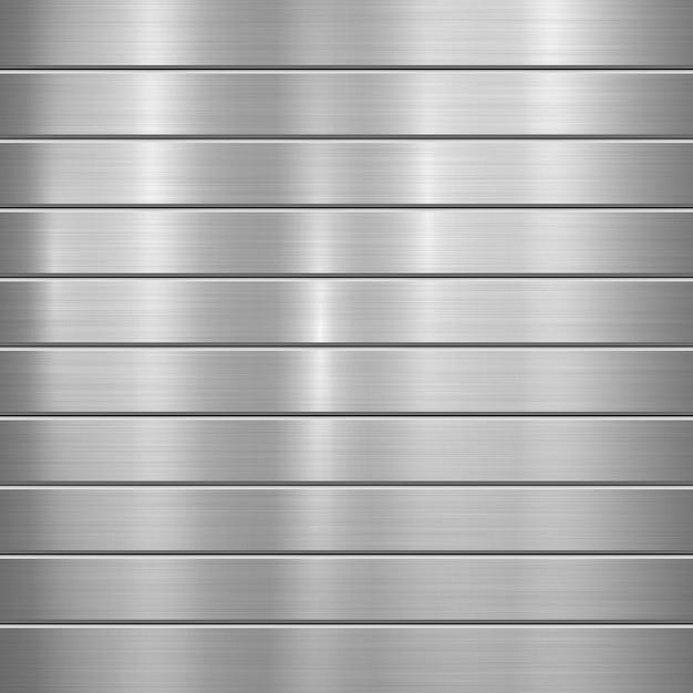 Striped metal background Premium Vector