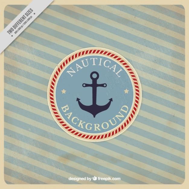 Sfondo nautico a righe in stile vintage Vettore gratuito