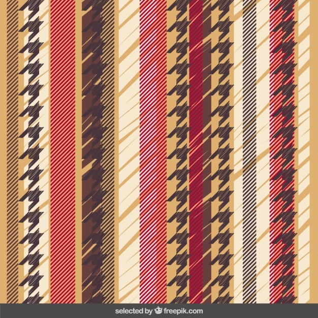 Striped pattern with houndstooth Free Vector