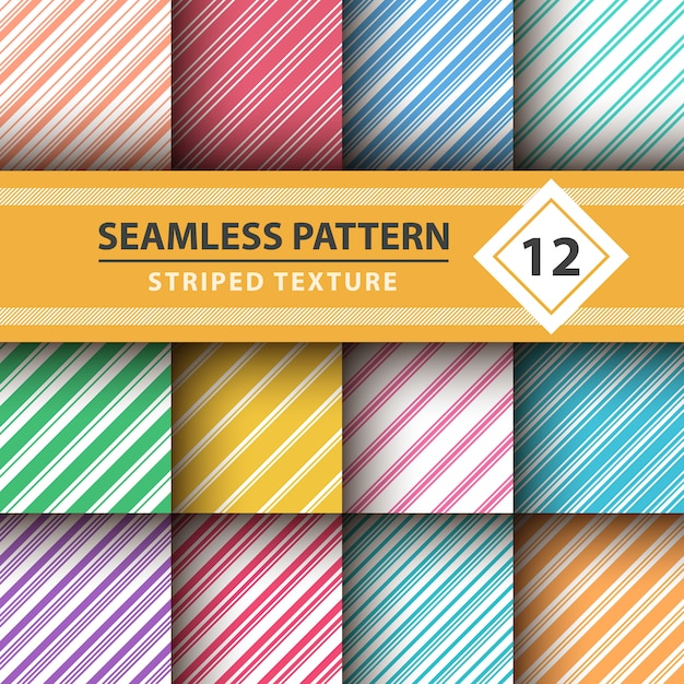 Striped sweet line merry christmas pattern Premium Vector