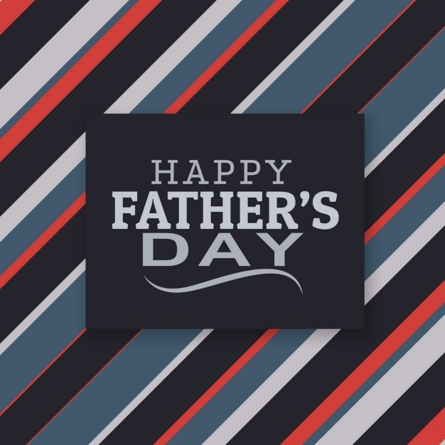 Stripes father\'s day card