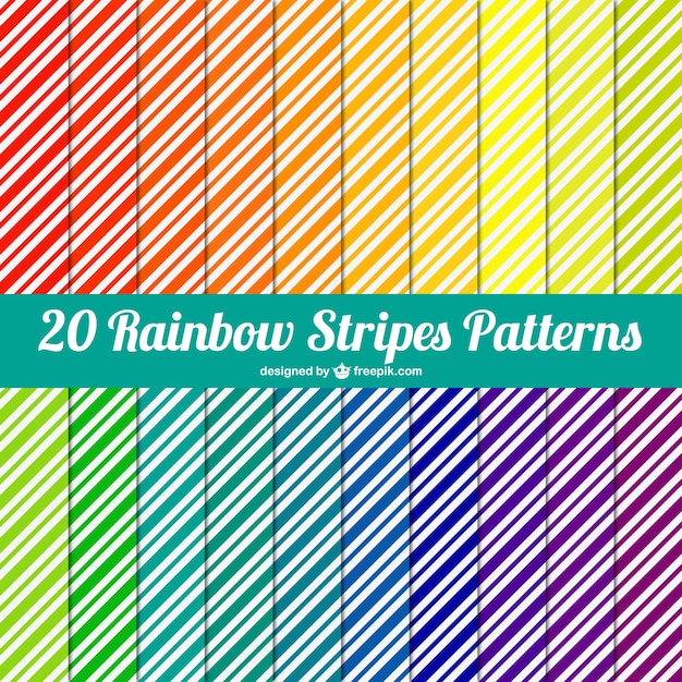 Stripes patterns pack Free Vector