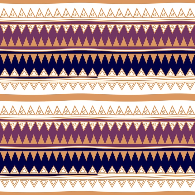 Stripes seamless pattern abstract tribal Premium Vector
