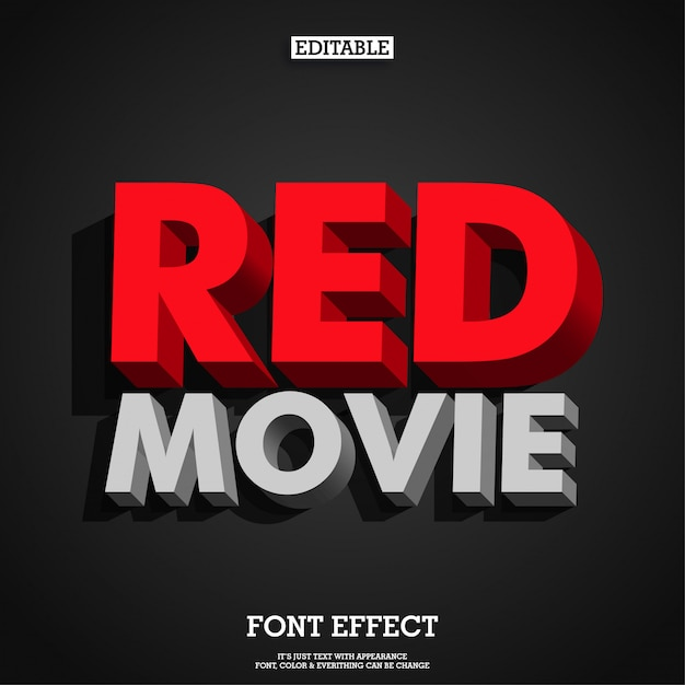 Strong bold modern retro 3d red typeface font Premium Vector