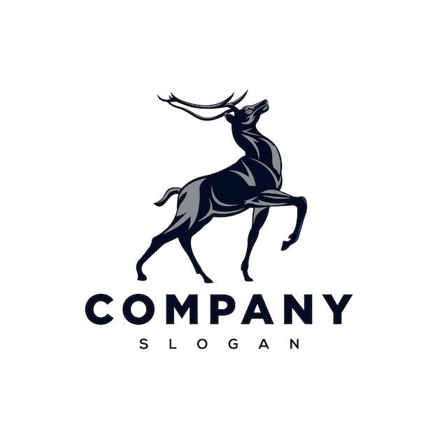 Strong deer logo  inspiration Premium Vector