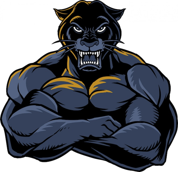 Strong panther 1 Premium Vector