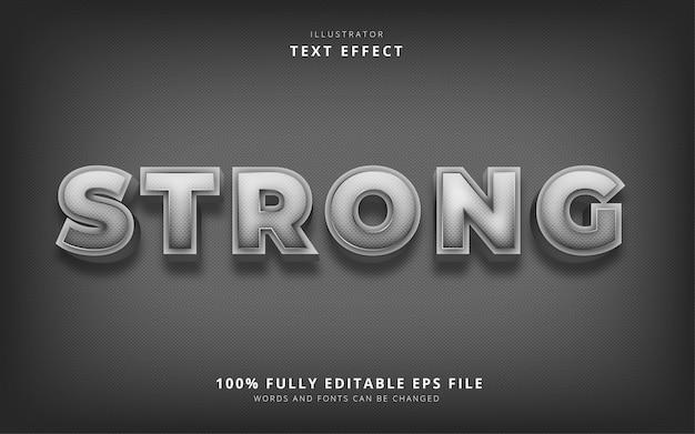 Сильный текстовый эффект Premium векторы
