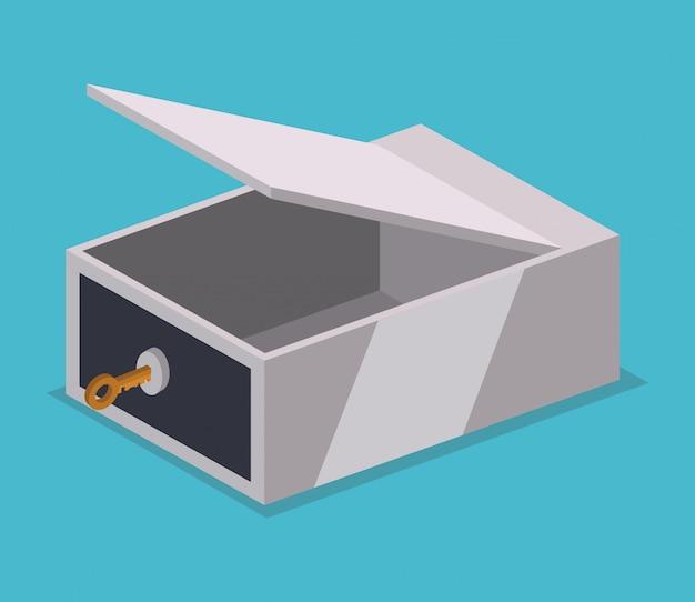 Strongbox design. Premium Vector