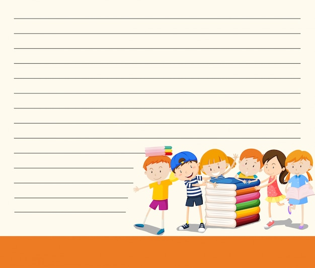 Student on blank note template Free Vector