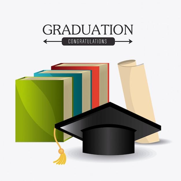 Student graduation design Free Vector