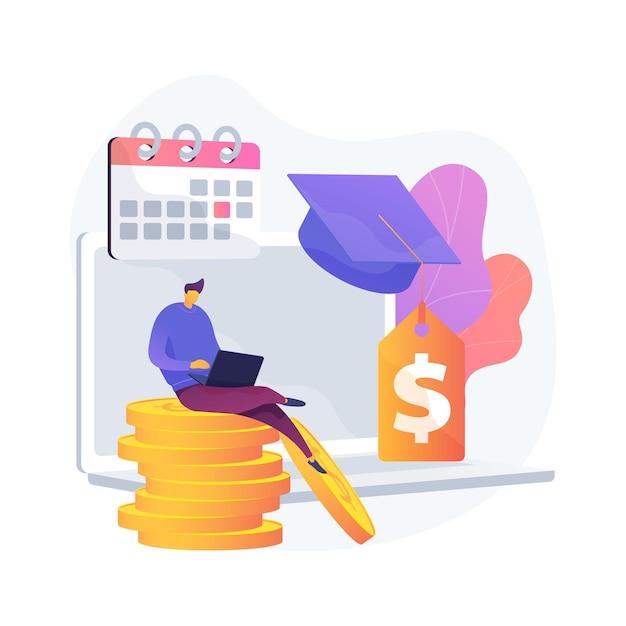 Платежи по студенческому кредиту отложены абстрактная концепция векторные иллюстрации. пакет стимулов для коронавируса, приостановка или приостановка платежа, финансовые обязательства, абстрактная метафора экономического кризиса. Бесплатные векторы