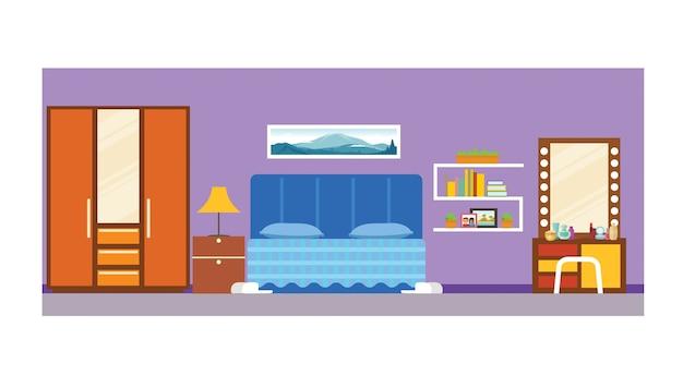premium vector   student school dorm bedroom interior;  freepik
