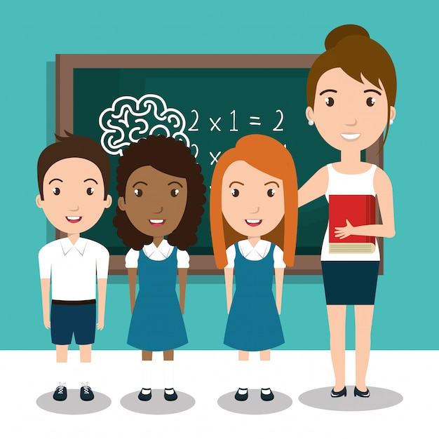 Student school teacher icon Premium Vector