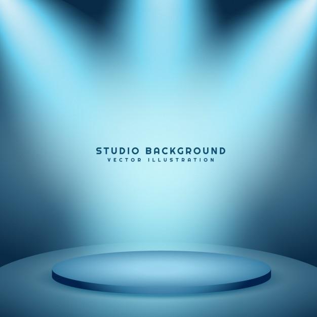 White Studio Background With Podium: Studio Background With Podium Vector