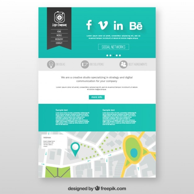 studio website template vector free download