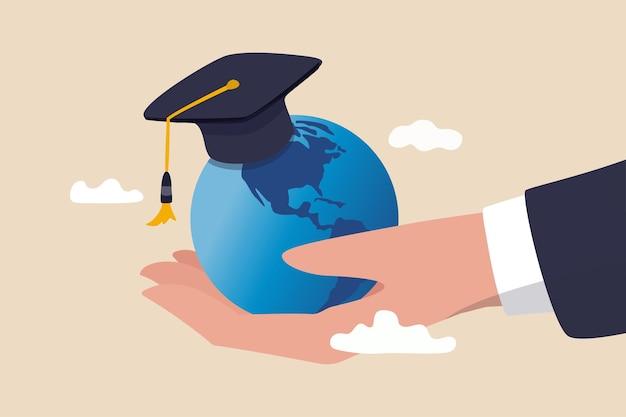 留学世界教育カリキュラム Premiumベクター