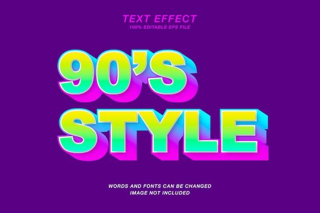 Style text effect Premium Vector