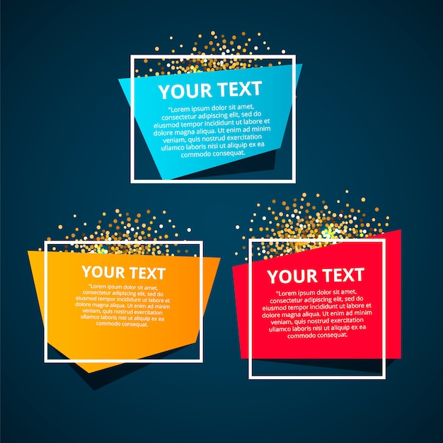 Style text templates speed origami for banner Premium Vector