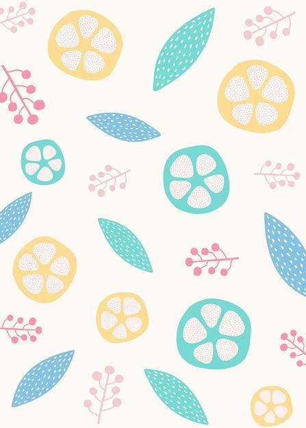 Styled botanical design background Free Vector
