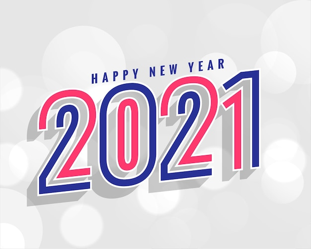 Stylish 2021 new year background in line style Free Vector