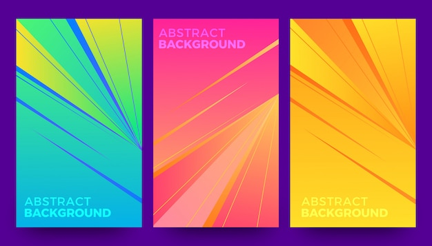 Stylish abstract  background template set Premium Vector