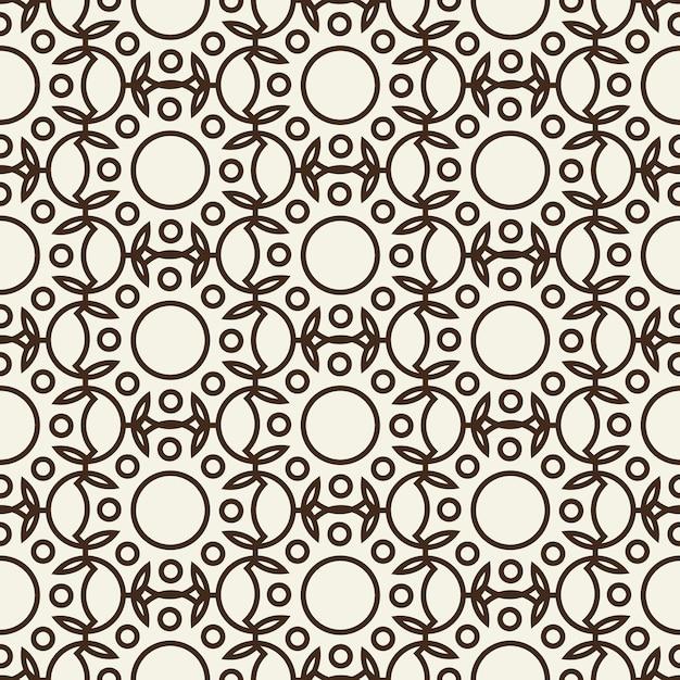 スタイリッシュな抽象的なシームレスな黒と白のパターン 無料ベクター
