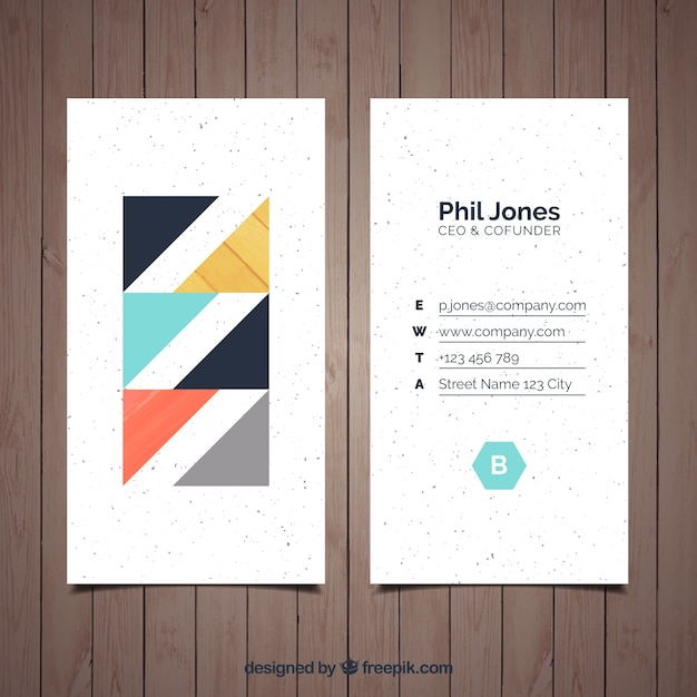 Stylish And Minimalist Business Card Free Vector