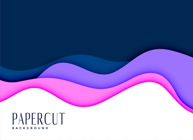 Stylish background of layred papercut concept Free Vector