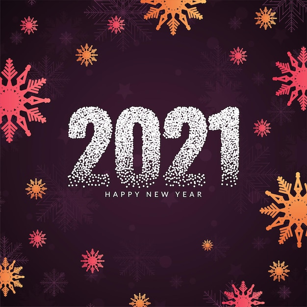スタイリッシュで美しい明けましておめでとうございます2021 無料ベクター