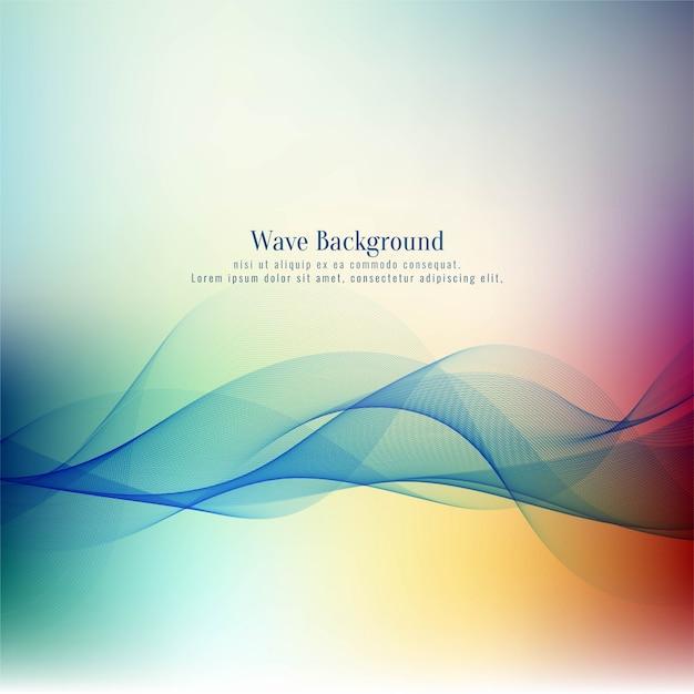 Stylish beautiful wave colorful background Free Vector