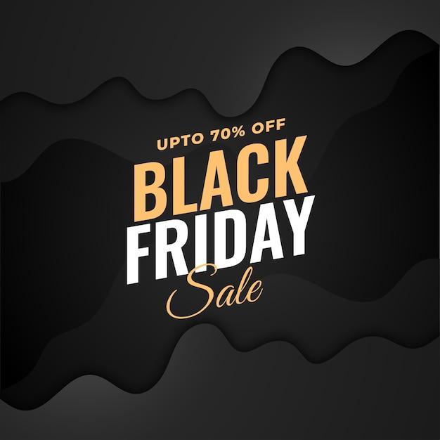 Stylish black friday sale dark background design Free Vector