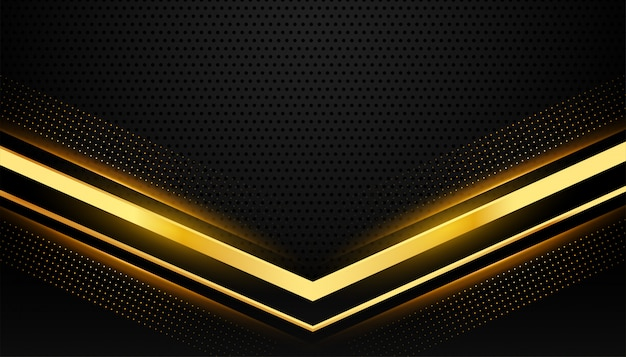 Stylish black and gold background with text space Free Vector