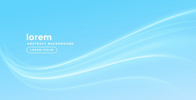 Stylish blue background with smooth wave Free Vector