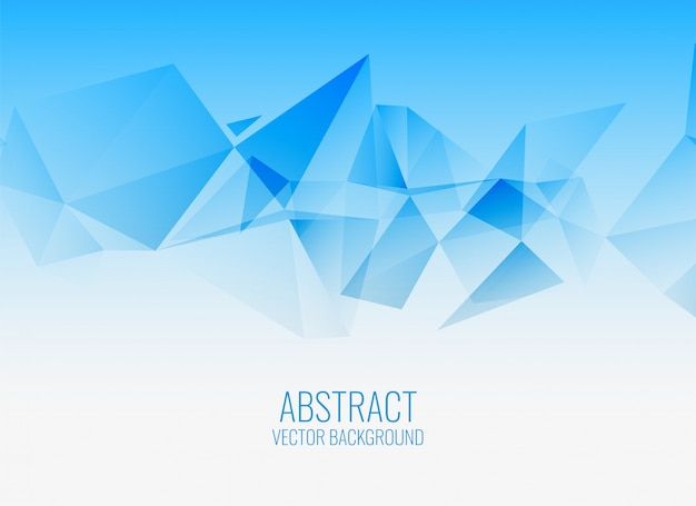 Stylish blue geometric abstract background Free Vector