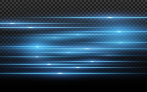 Stylish blue light effect. abstract laser beams of light. Premium Vector