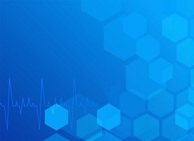 Stylish blue medical background with hexagon Free Vector