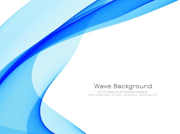 Stylish blue wave background Free Vector