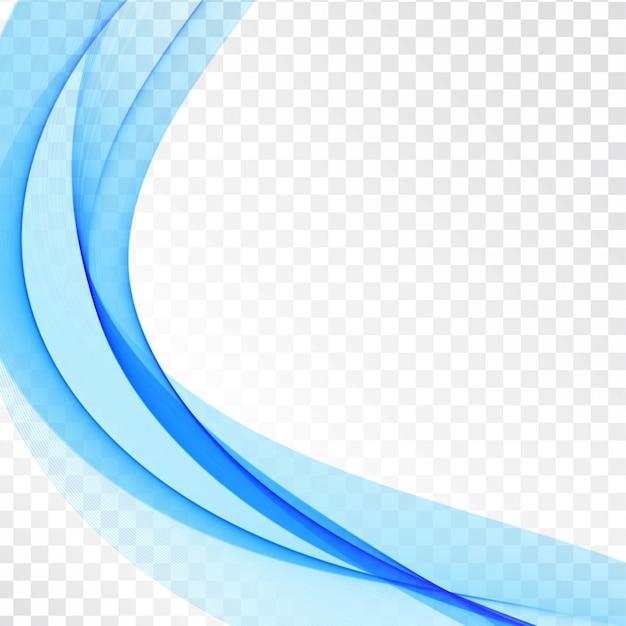 Stylish blue wave transparent elegant background Free Vector