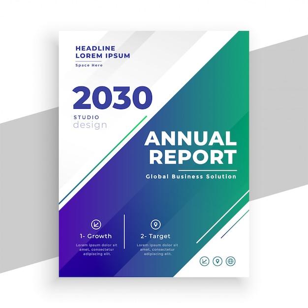 Modello dell'opuscolo del rapporto annuale di affari alla moda Vettore gratuito