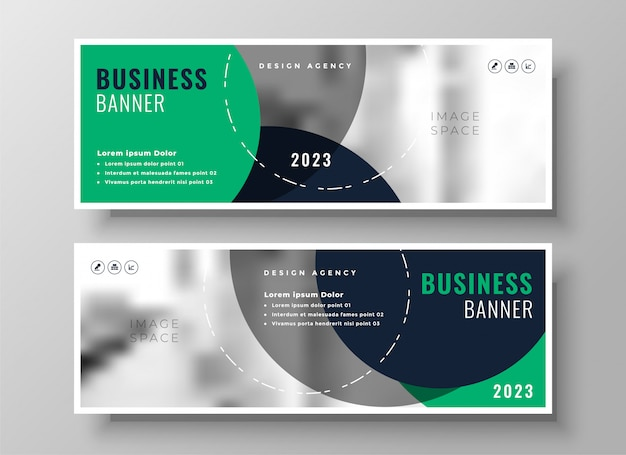 Stylish business banner Free Vector