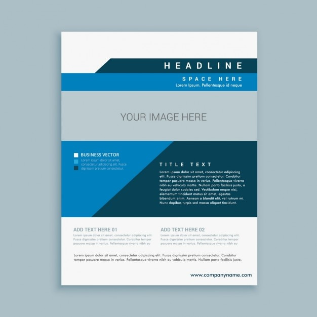 Stylish Business Brochure Design Vector  Free Download