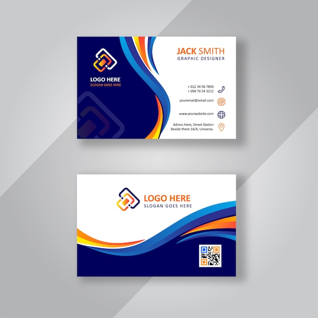 Stylish business card Premium Vector