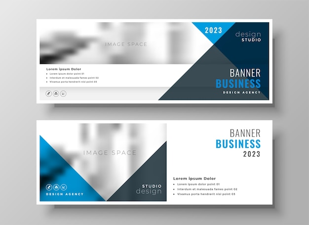 Stylish business facebook cover or header in blue theme design Free Vector