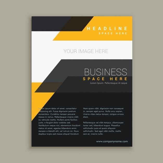 Stylish business flyer brochure design Vector – Business Brochure Design