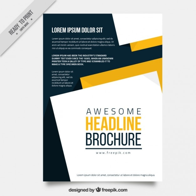 stylish business flyer vector free download